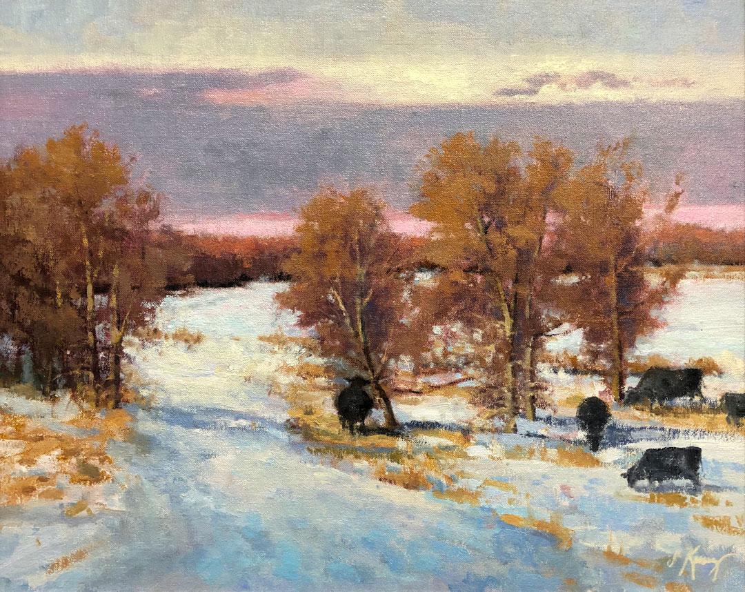 Montgomery-Lee Fine Art | The Cows Come Home
