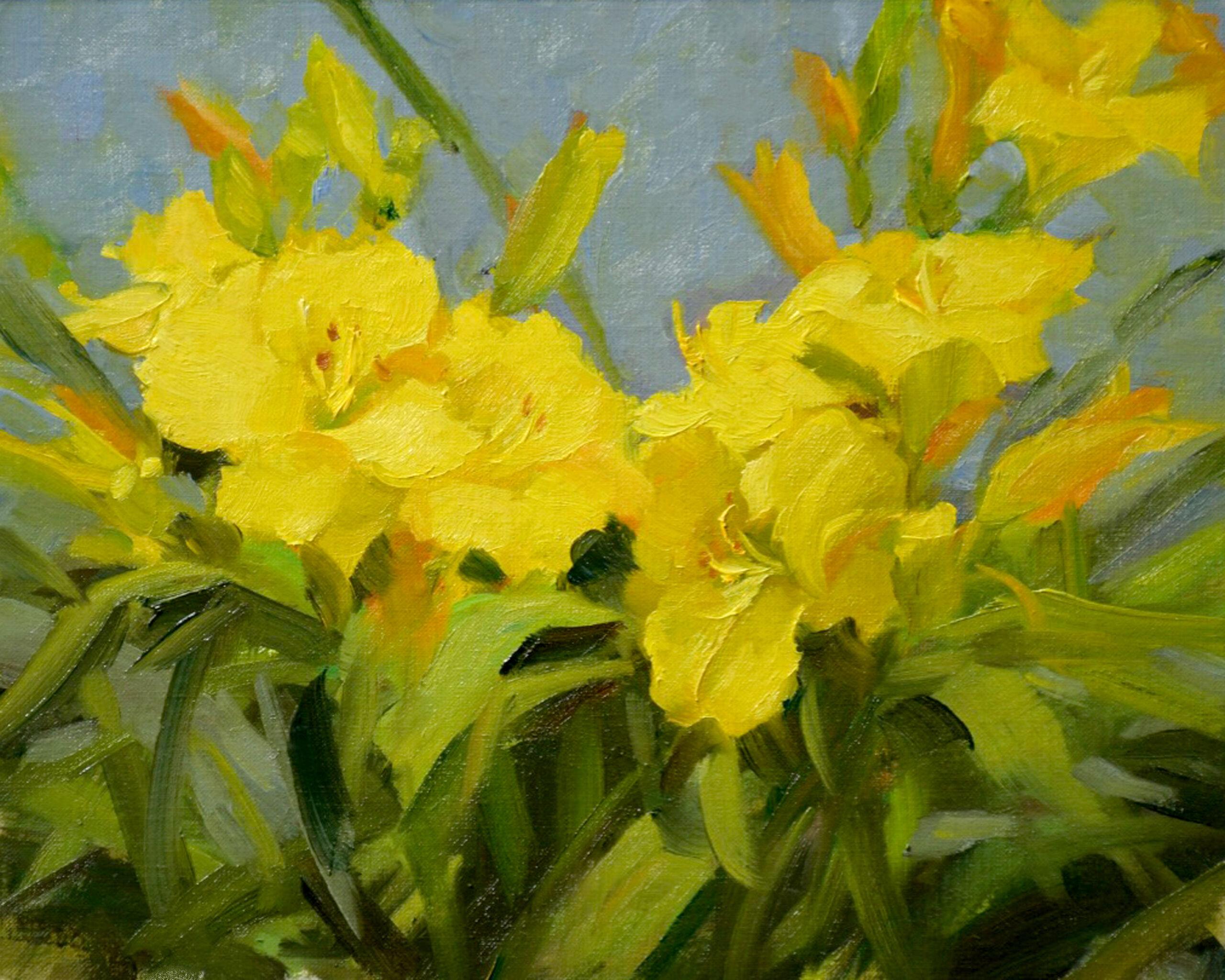 Montgomery-Lee Fine Art   Yellow Daylilies