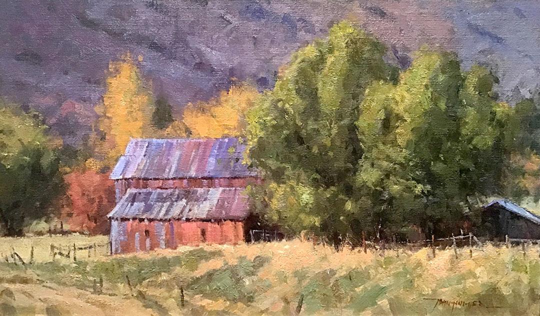 Montgomery-Lee Fine Art   Red Barn