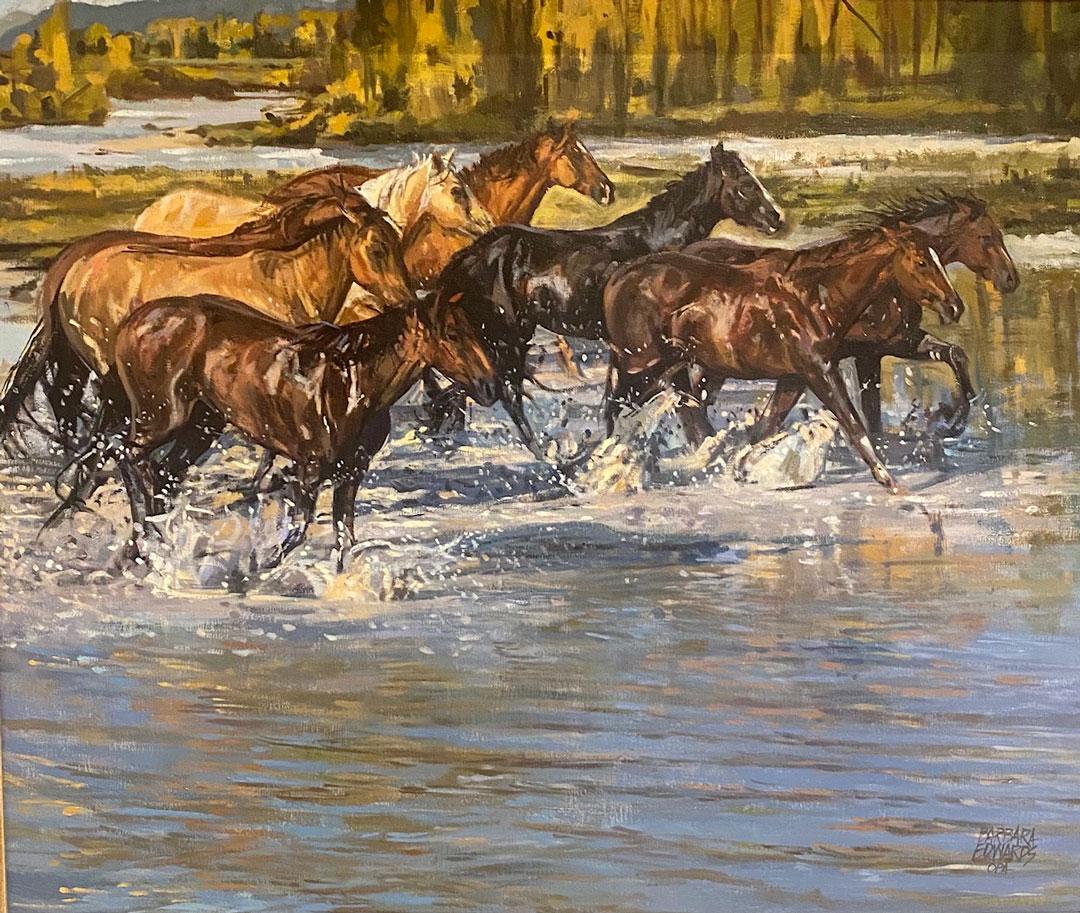 Montgomery-Lee Fine Art   Shallow River