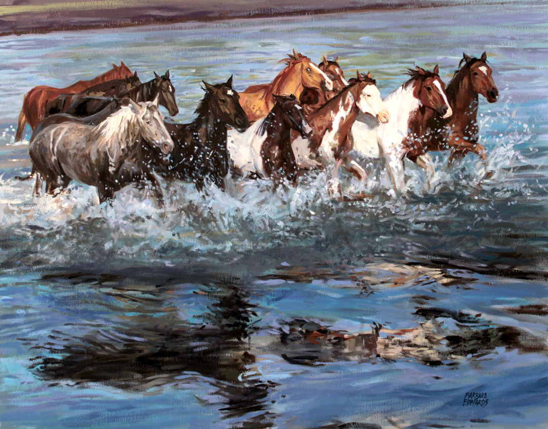 Montgomery-Lee Fine Art   The Swift and the Strong