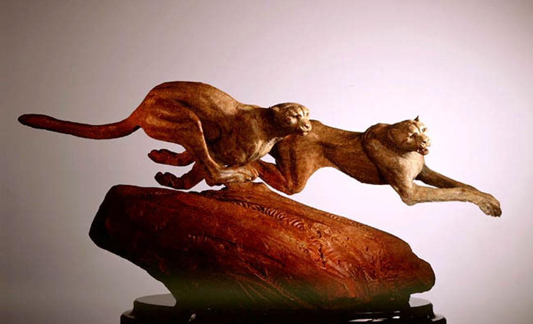 Montgomery-Lee Fine Art   Coursing Cheetahs