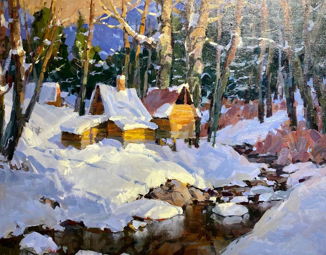Montgomery-Lee Fine Art   January Snow