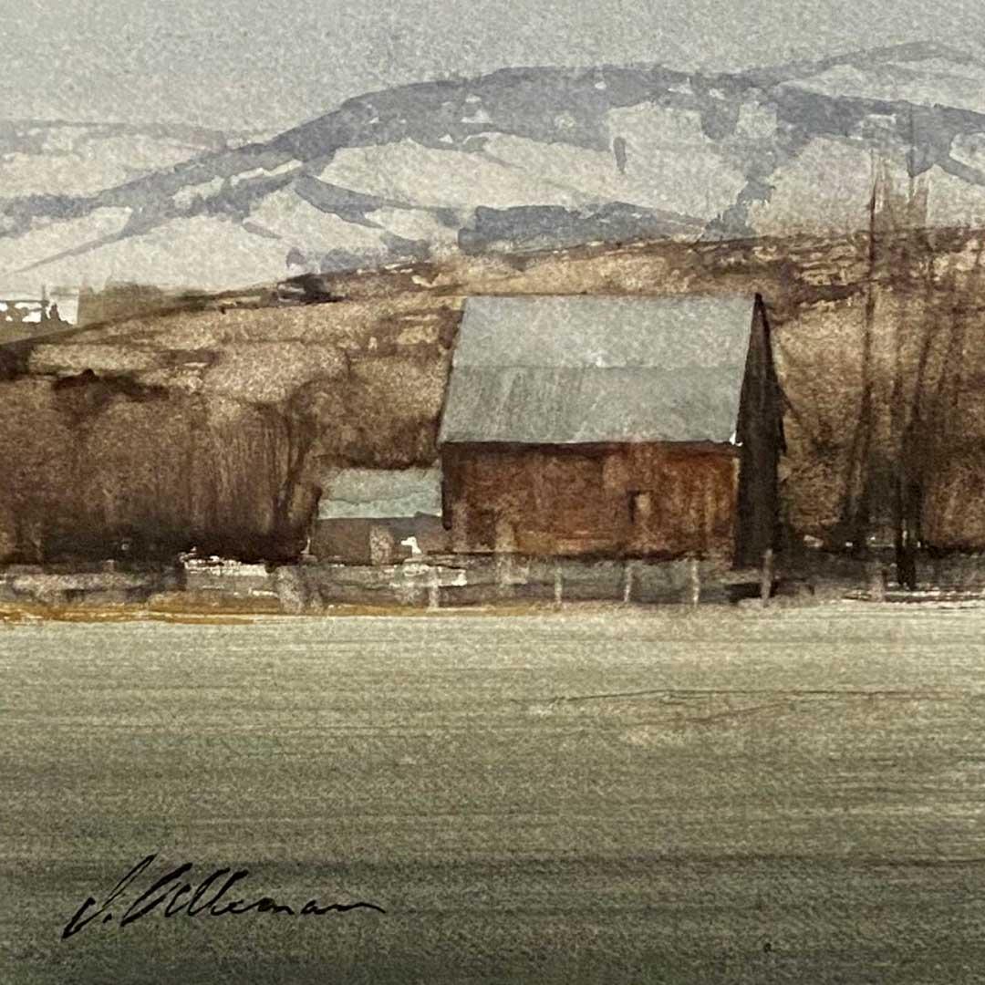 Montgomery-Lee Fine Art   Muted Farmscape
