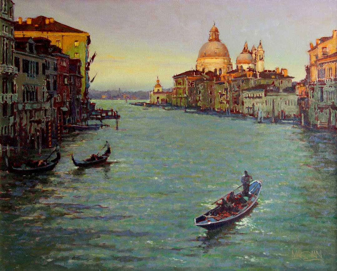 Montgomery-Lee Fine Art | Evening on the Grand Canal