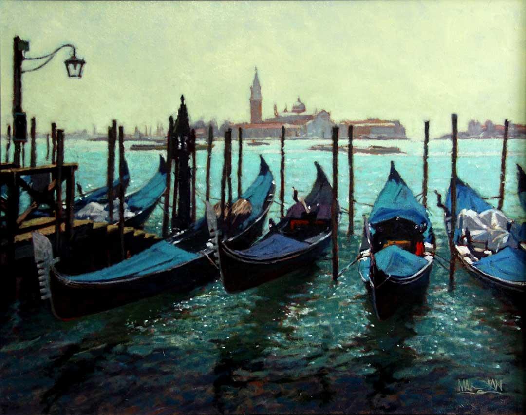 Montgomery-Lee Fine Art | Gondolas at Saint Marks Piazza