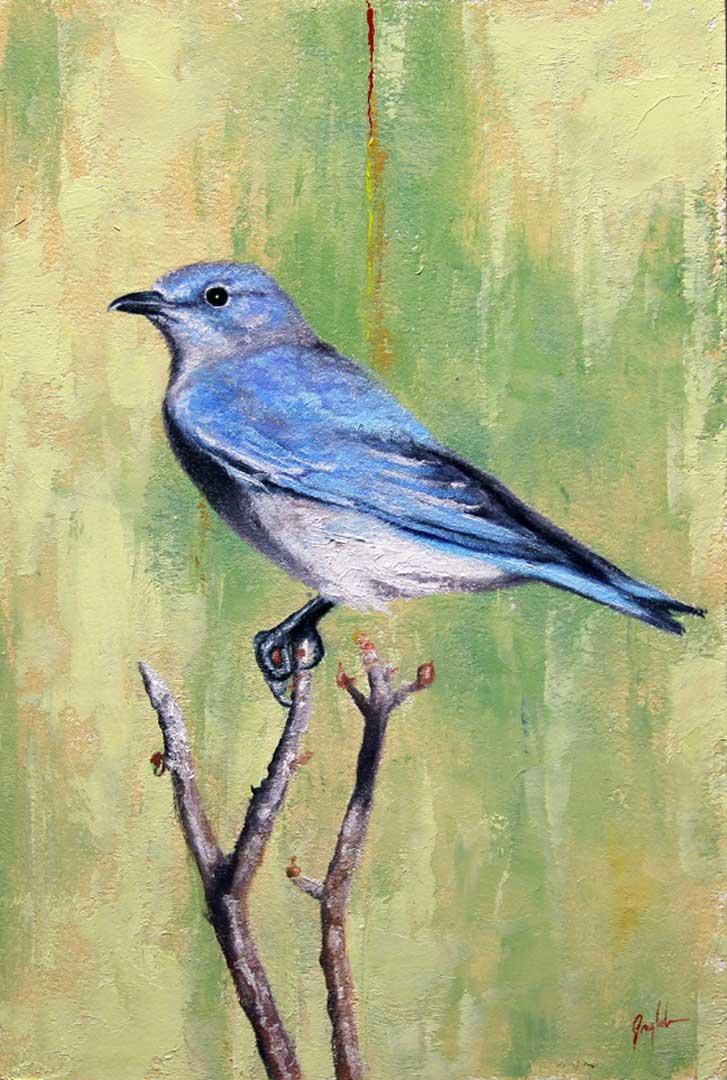 Montgomery-Lee Fine Art | Blue Bird Left