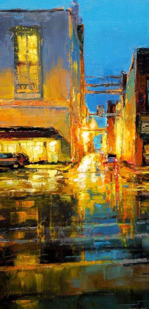 Montgomery-Lee Fine Art   Alley Light