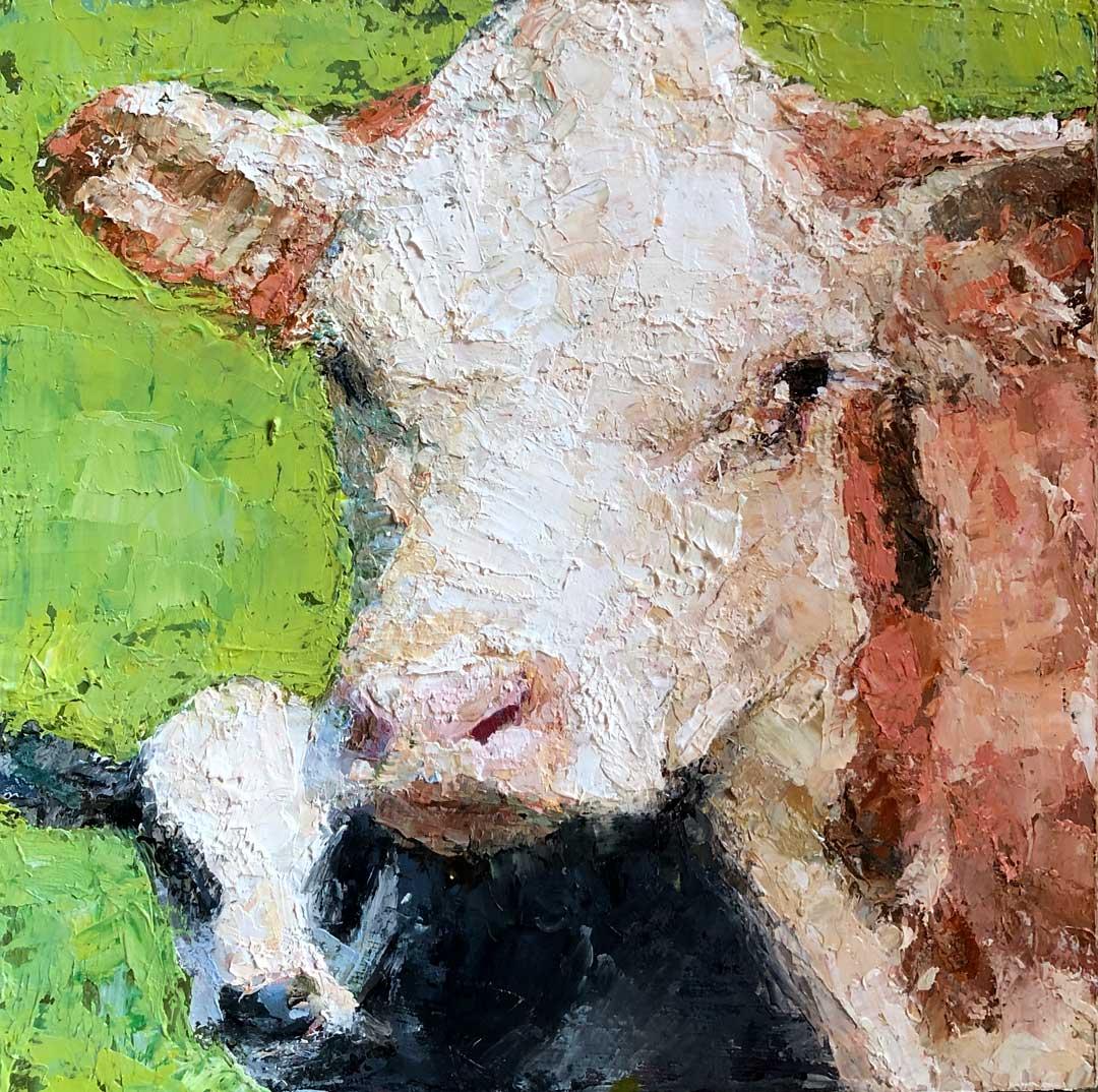 Montgomery-Lee Fine Art   Annie and Her Calf