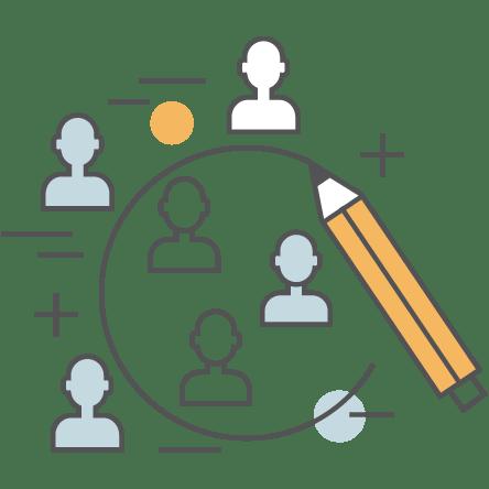 Profile Customers in Data Icon