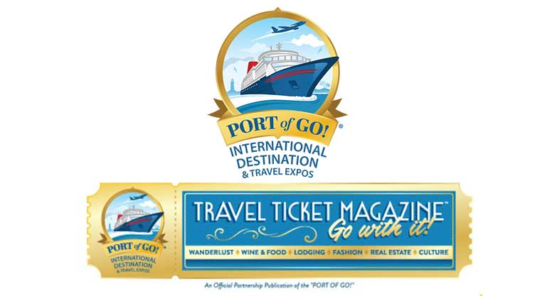 Port of Go and Travel Ticket Magazine logos
