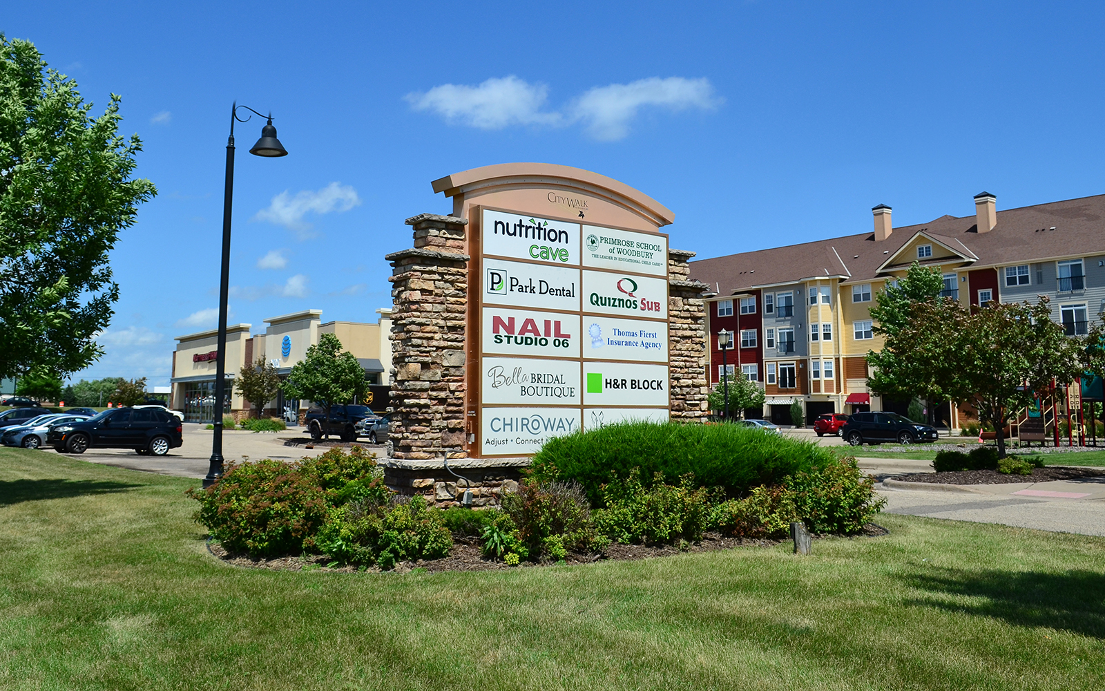 City Walk signage in Woodbury, MN