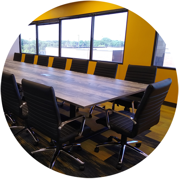 photo of a newly remodeled conference room