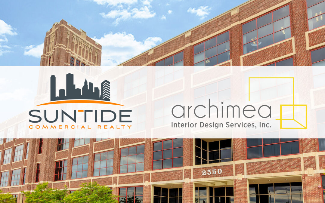 graphic of Suntide logo and Archimea logo over Court International Building