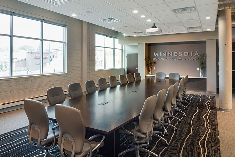 view of remodeled conference room at 1000 University