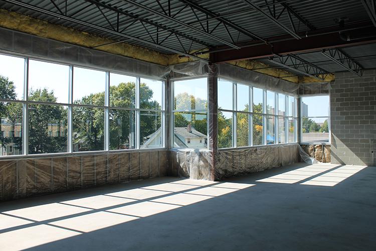 image of new windows installed at 1000 University