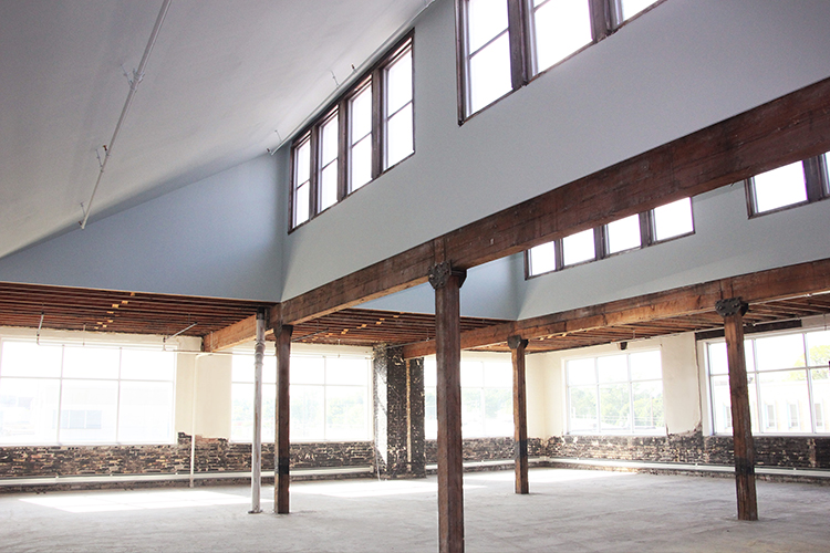 image of the original timber ceilings at 1000 University