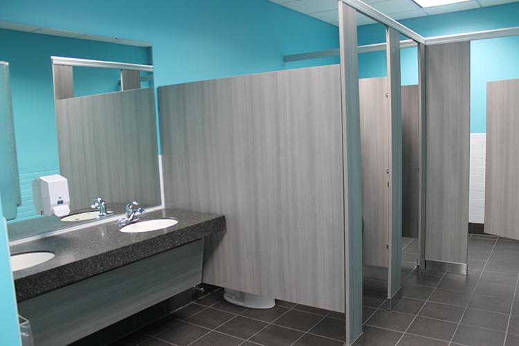 image of remodeled restroom at 1000 University
