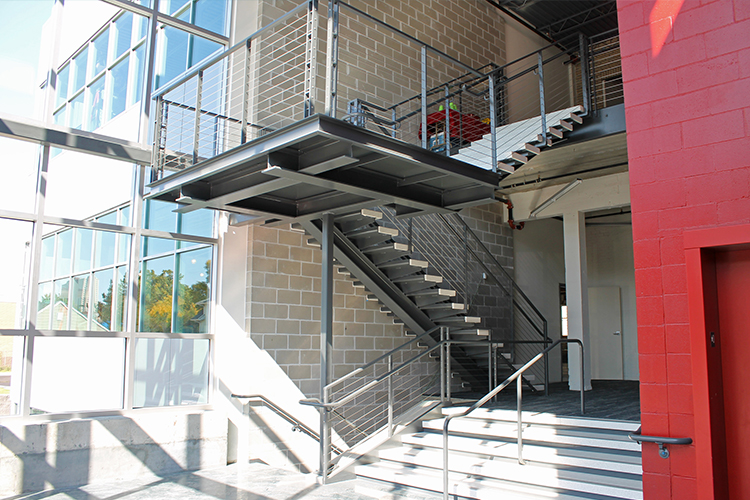 image of open staircase at 1000 University