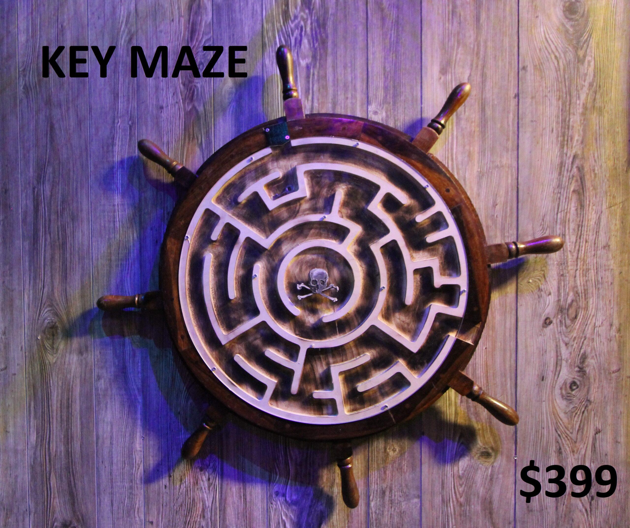 Ships Wheel Key Maze Image