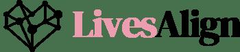 LivesAlign Logo - pink and black