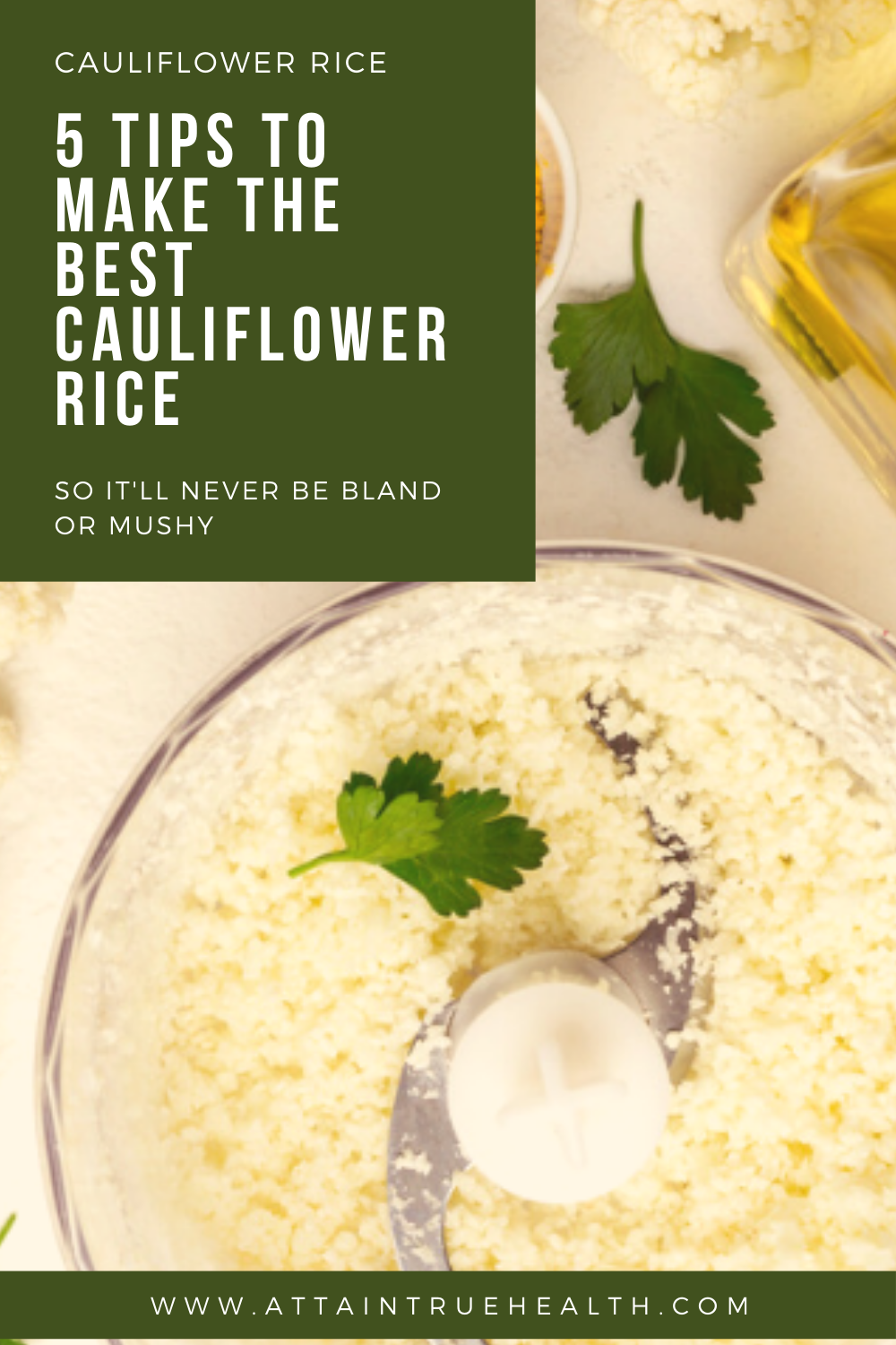 tips for the best cauliflower rice