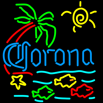 CoronaExtra_Sign_Neon_Fish