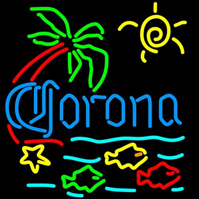CoronaExtra_Sign_Neon_Fish