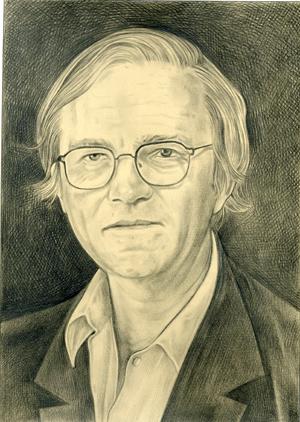 Robert Storr, Graphite portrait by Phong Bui, 2007