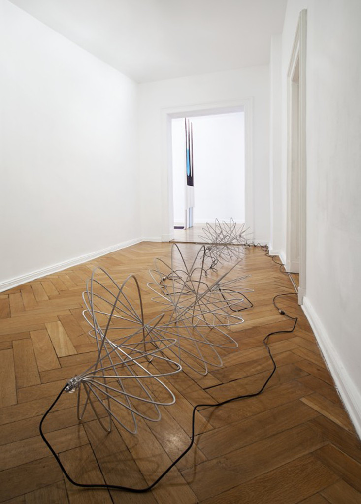 View of Spiros Hadjidjanos 'Network Sculptures' (2010-2014) at Future Gallery, Berlin