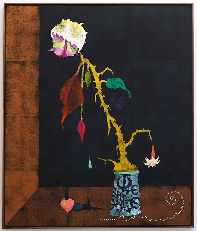 Gert & Uwe Tobias Untitled (GUT/2199), 2014, woodblock print on canvas, 79 x 66 inches Image courtesy of Team, NY