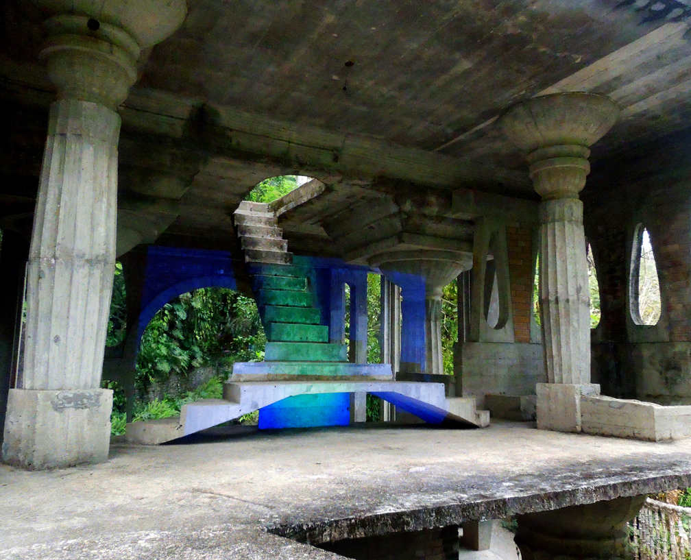 """Anne Katrine Senstad, """"Projections of the Surreal"""", Site-specific video projection , installation at The Surreal Gardens in Xilitla, Mexico. Image courtesy of the artist, 2014"""