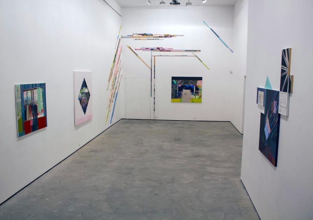 Kristen Schiele, Spirit Girls, Installation view, Lu Magnus, New York, 2014, Image courtesy of the artist