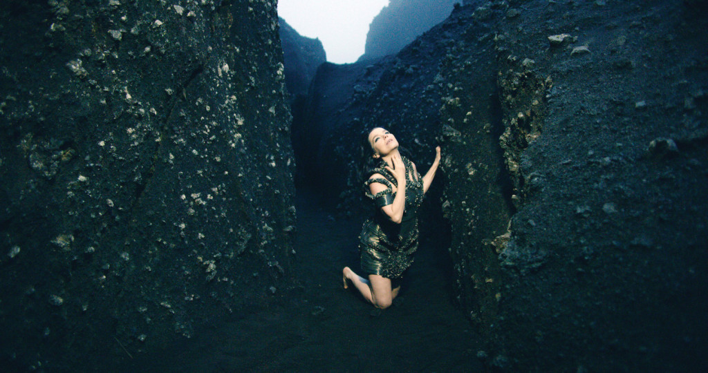 Bjork, Still from Black Lake commissioned by the Museum of Modern Art, New York, directed by Andrew Thomas Huang, Courtesy of Wellhart and One Little Indian, 2015
