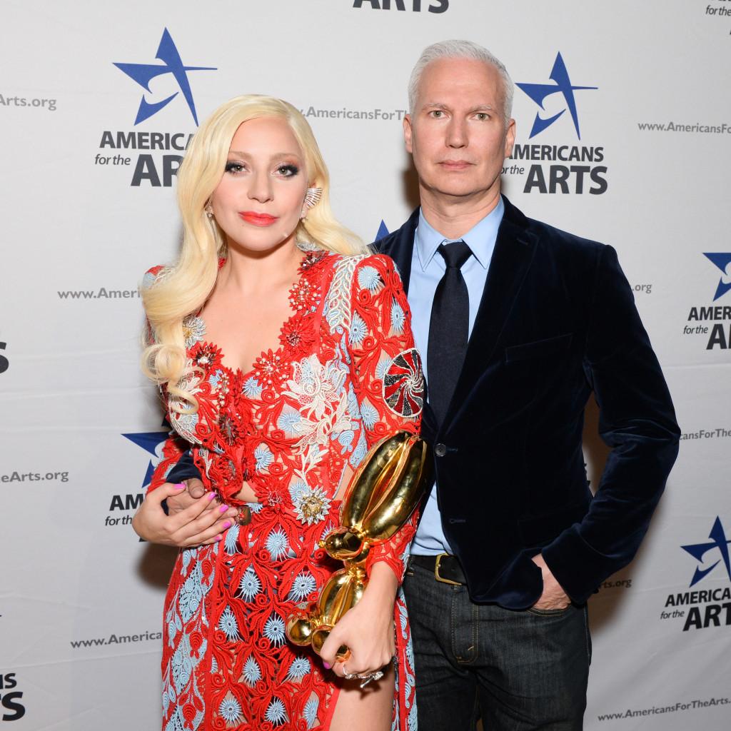 Lady Gaga & Klaus Biesenbach, Americans for the Arts Awards, Cirpiani, NY, Photograph courtesy of BFA, 2015