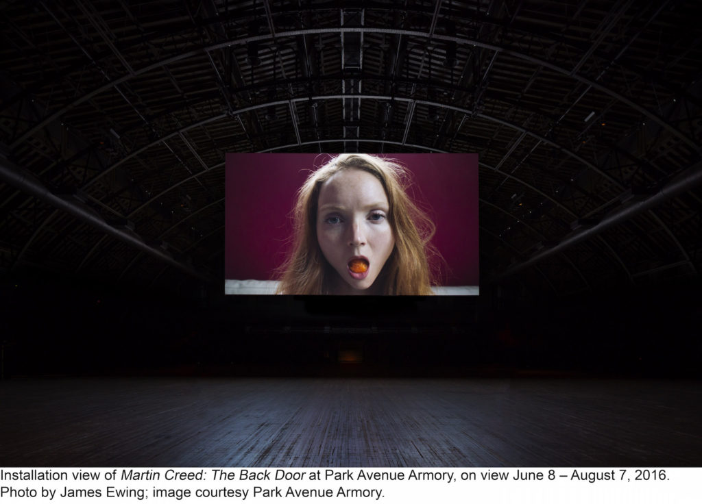"""Martin Creed, """"Work No. 2727: Lily Cole"""" Duration, 1 minute 55 seconds"""