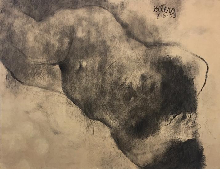 Fernando Botero, Desnudo femenino, 1959, On view in Referentes, ArtBO, Bogota, Courtesy of Galeria La Cometa, Photograph by Katy Hamer, 2016