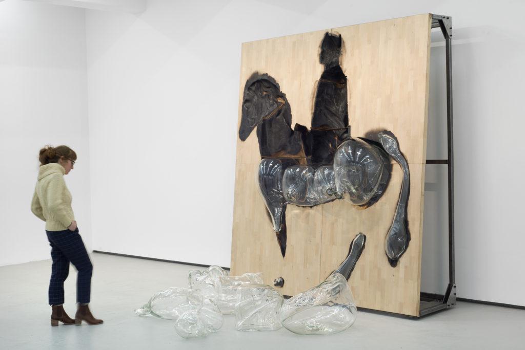 "Titus Kaphar, installation view: ""Free Trade,"" (2016) Shifting Skies. Jack Shainman Gallery, New York. December 16, 2016 - January 28, 2017. Courtesy of Jack Shainman Gallery, New York"