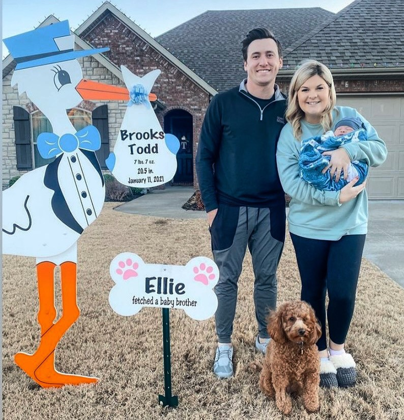 Stork yard/ lawn sign rental for baby arrival