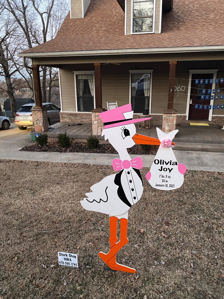 Stork yard/lawn sign rental
