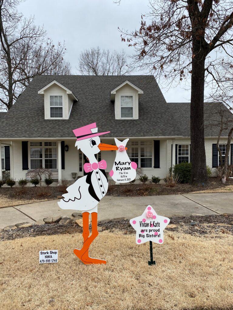 Yard Sign Storks