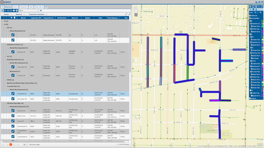 ITpipes Pipeline Inspection Software with Mapping