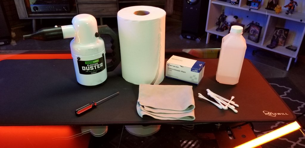 Materials to clean PC