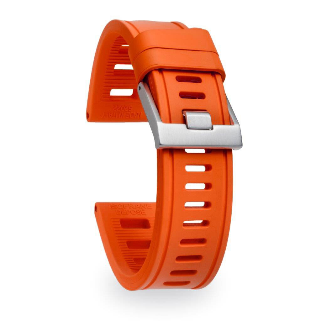 orange dive watch strap