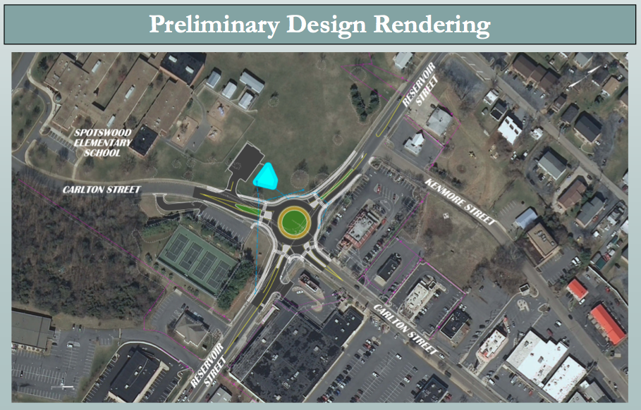 Proposed Roundabout at Reservoir and Carlton, Harrisonburg