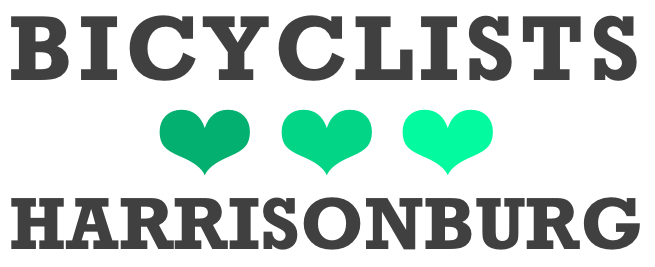 Bicyclists Love Harrisonburg   New City Bike Map