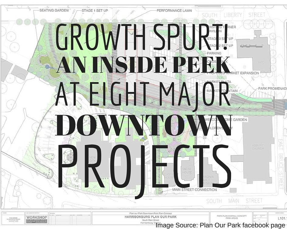 Growth Spurt! Update on 8 Major Projects in Downtown Harrisonburg