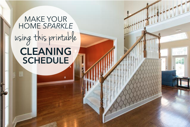 Make Your Home Sparkle Using This Printable Cleaning Schedule