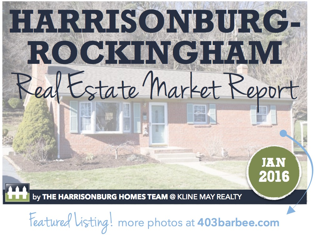 Harrisonburg Real Estate Market Report [INFOGRAPHIC]: January 2016 | The Harrisonburg Homes Team