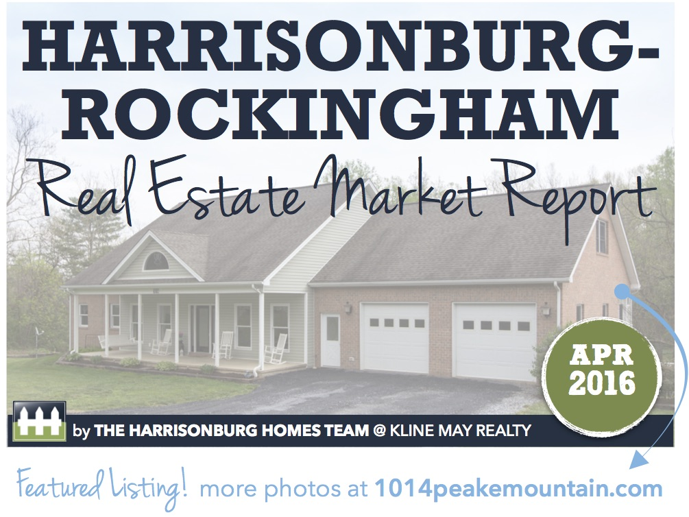 Harrisonburg Real Estate Market Report [INFOGRAPHIC]: April 2016 | The Harrisonburg Homes Team @ Kline May Realty